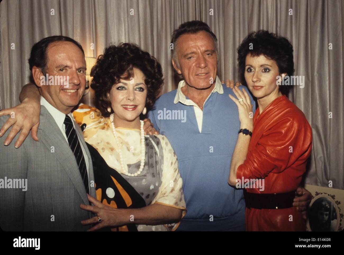 richard burton with wife sally hay double ex wife actress