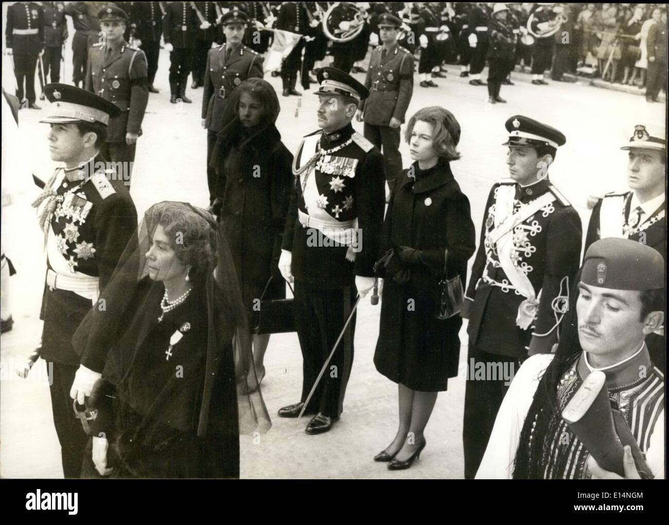 Apr. 18, 2012 - King Konstantin and his mother at the burriel of Konstantin's father. ZUM - Stock Image