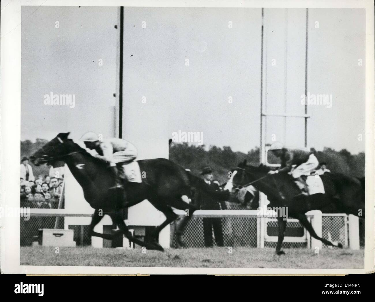 Apr. 09, 2012 - ''Tantieme'' wins horse race. - Stock Image