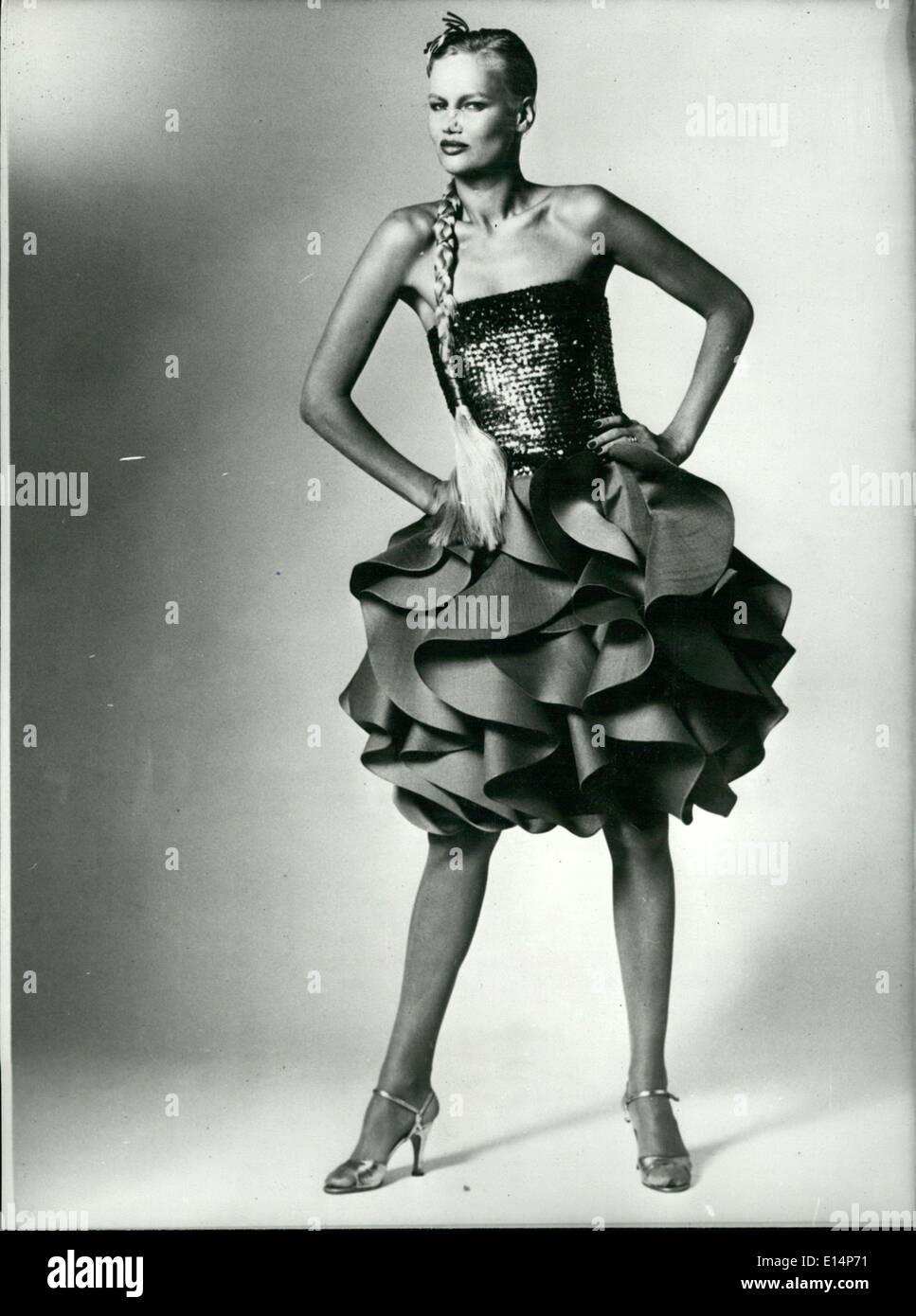 Apr. 12, 2012 - Cocktail Dress by Kimijima Designs - Stock Image