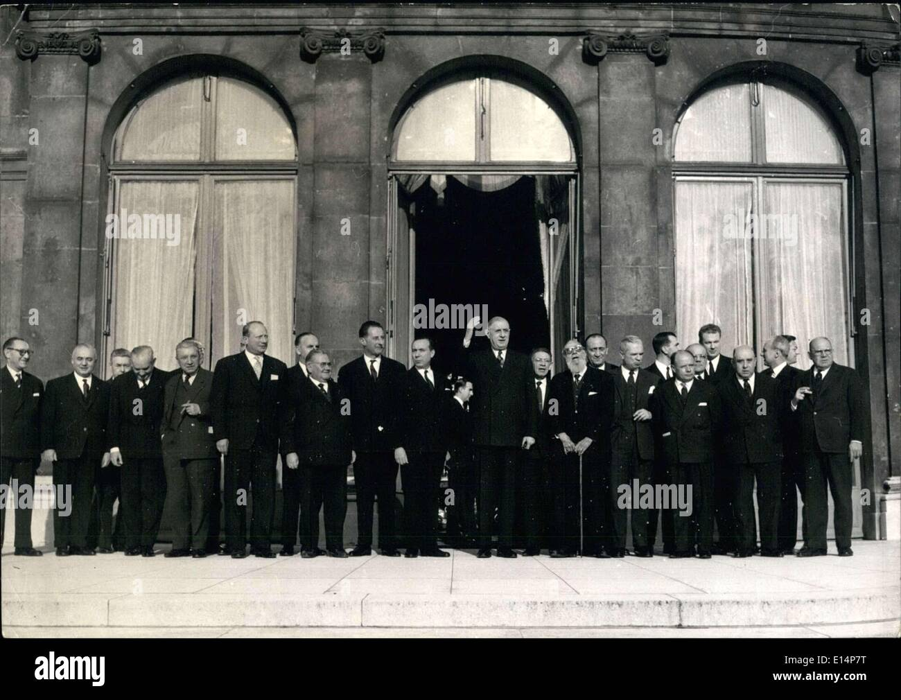 Apr. 12, 2012 - General Charles De Gaulle Opens 46th French Congress Tremintin ESS. - Stock Image