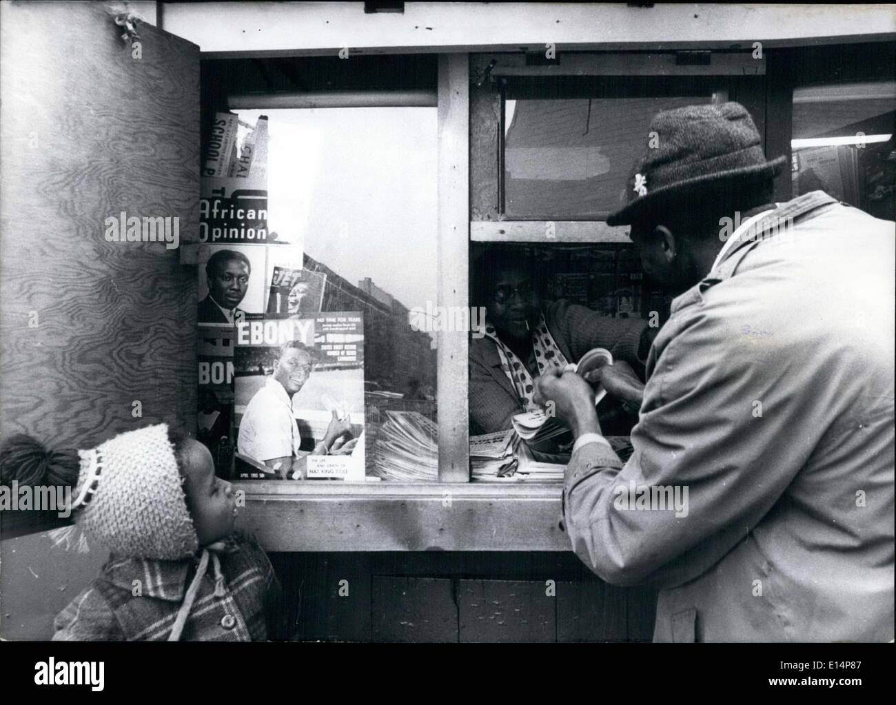 Apr. 12, 2012 - Here in Harlem most of the residents are black, so magazines such as Ebony, Jet, and African Opinion are popular. - Stock Image