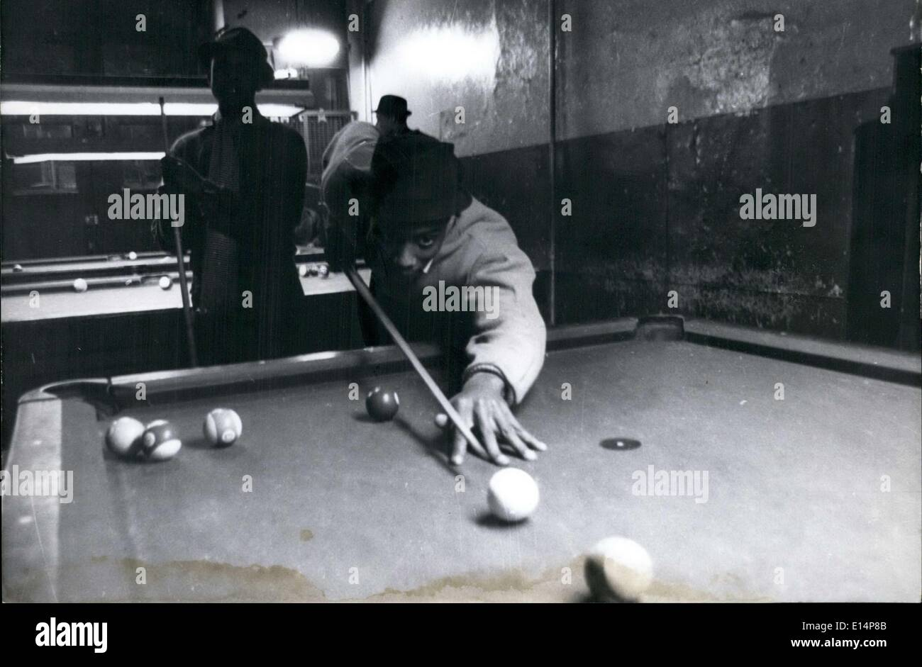 Apr. 12, 2012 - These men meet in a local billiards room and play pool while they chat about politics and other things. - Stock Image