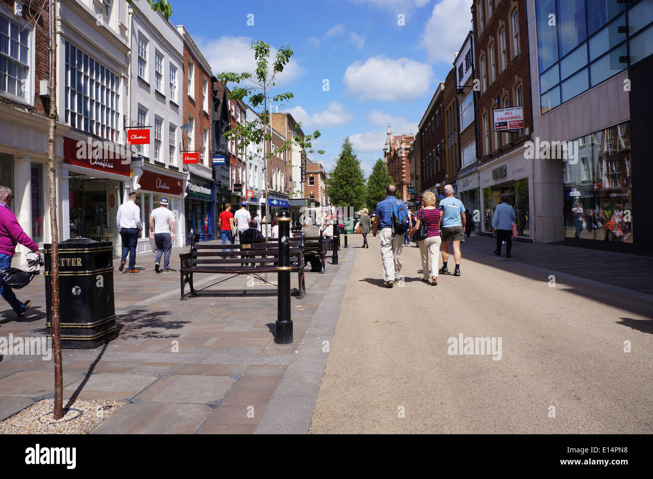 worcester city centre, uk - Stock Image