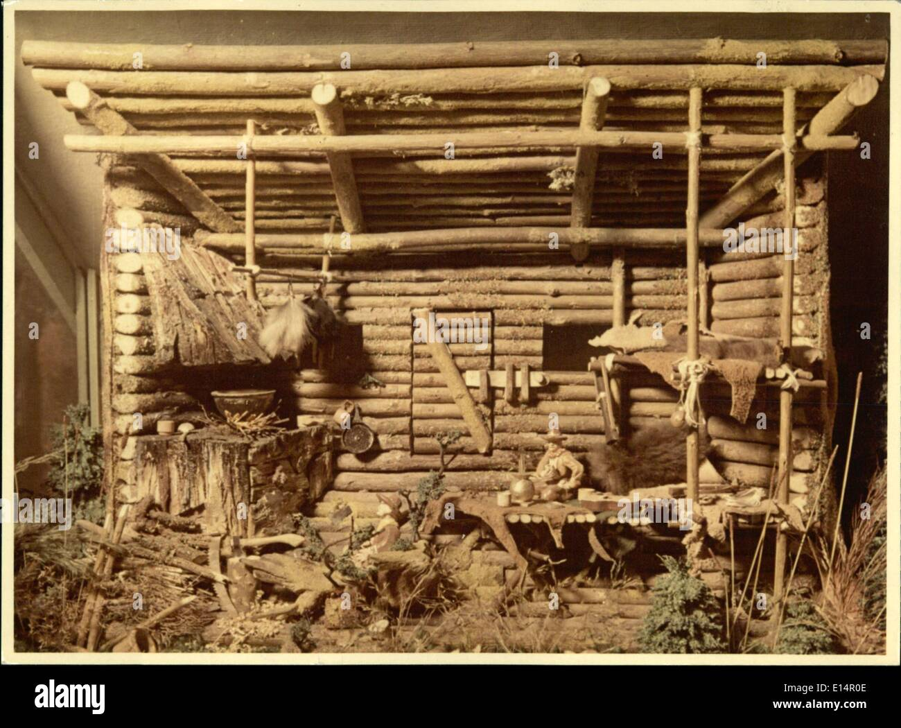 Apr. 18, 2012 - Picture 5 shows : a settler's billet in the west. - Stock Image