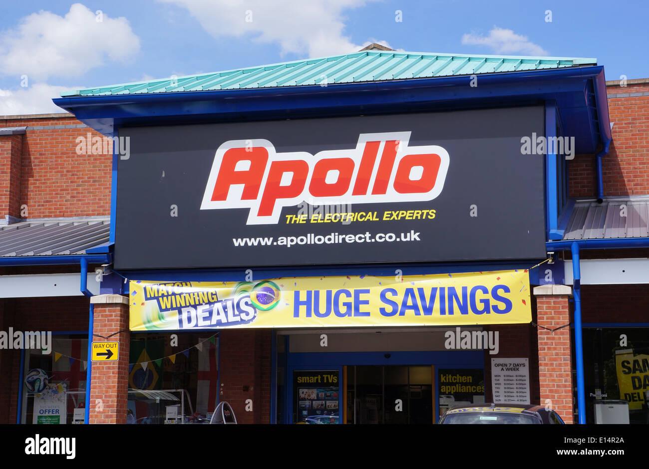 apollo, apollo 2000, hughs electrical store in uk - Stock Image