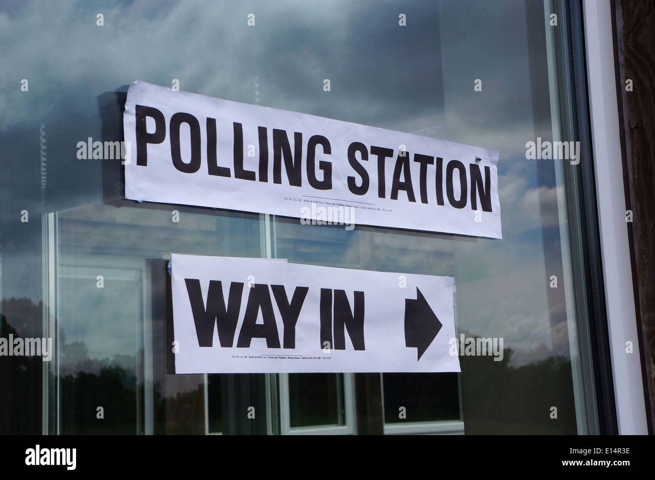 UK polling station during local elections - Stock Image