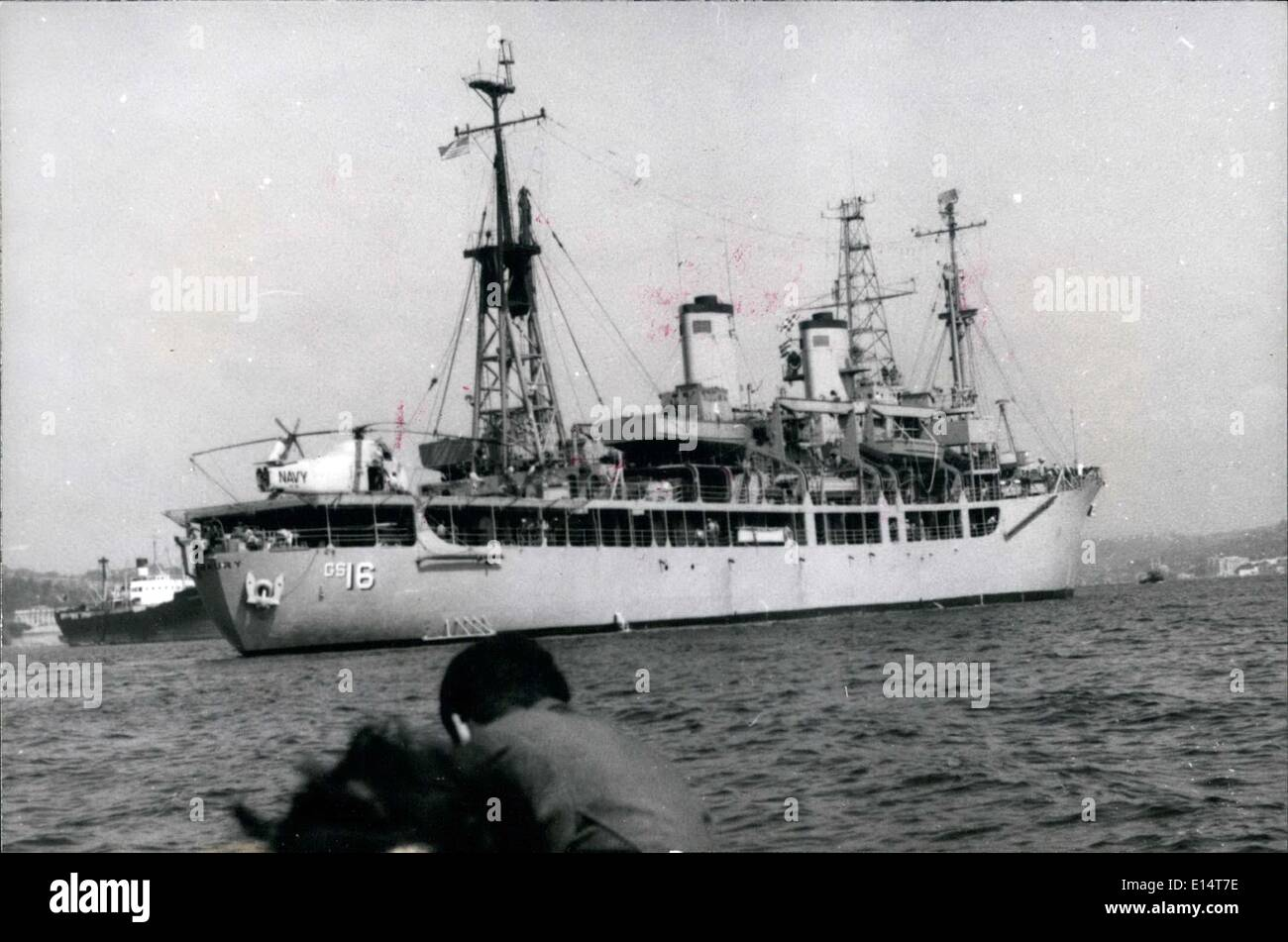 Apr. 18, 2012 - The first American Navy ship ''Maury'' which sail to the black sea after the world war two since Potsdam Conference. It is the guest of the Turkish Navy and it will be making some hydrographic reseches in the Black Sea. When the ship make it application in the Black Sea an Officier of the Turkish Navy will be in the ship for guid. - Stock Image