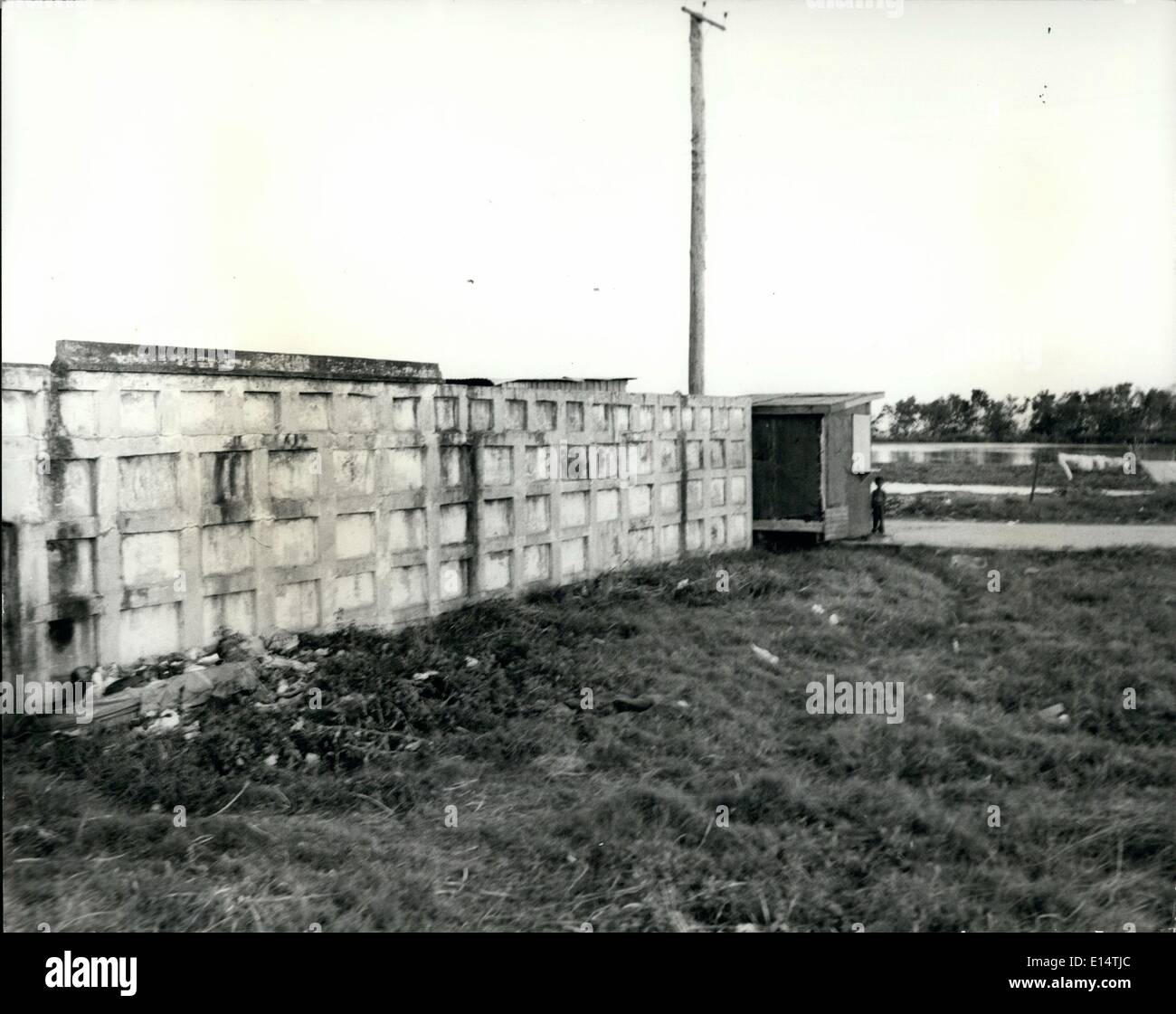 Apr. 18, 2012 - British Honduras - World's Newest Hot-Spot: The burial vaults of the British who died in Belize during the notorious yellow fever epidemic in 1921 - Stock Image