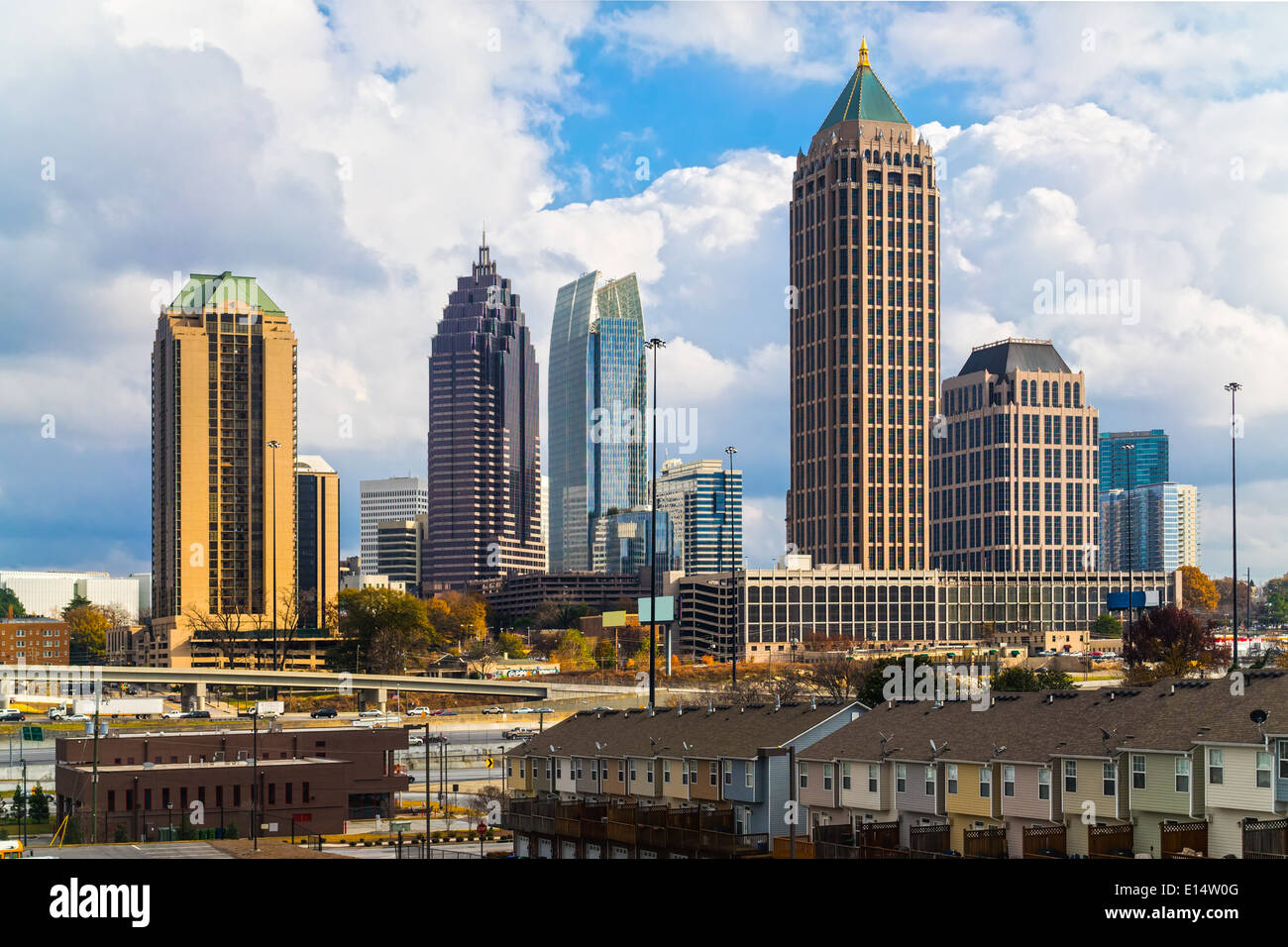 Skyline of Midtown Atlanta, Georgia, USA - Stock Image