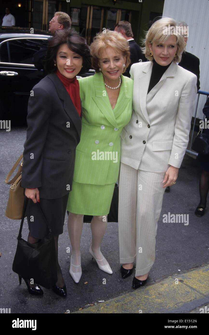 CONNIE CHUNG with Barbara Walters and Diane Sawyer.ABC fall lineup press party at New Amsterdam theatre in New York 1998.k12399jbb.(Credit Image: © John Barrett/Globe Photos/ZUMAPRESS.com)