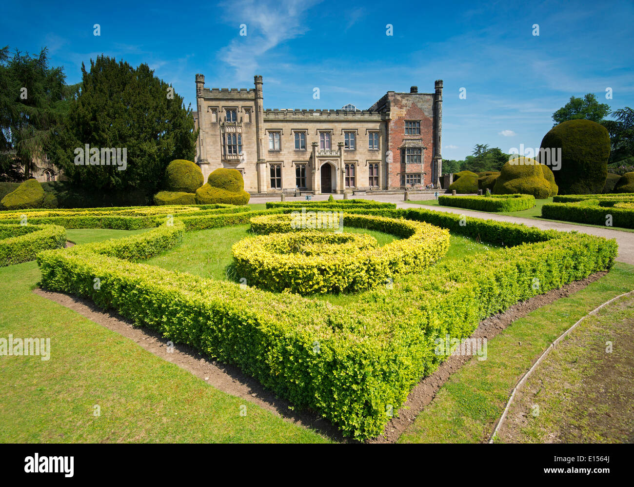 Formal Gardens at Elvaston Castle in Derbyshire, England UK - Stock Image