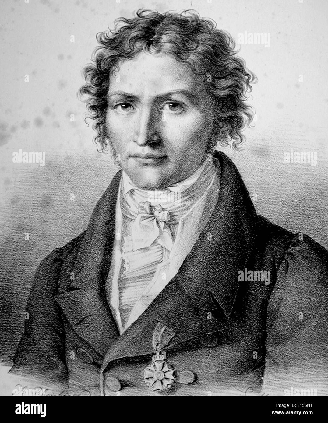 JOHANN BAPTIST von SPIX (1781-1826) German biologist - Stock Image