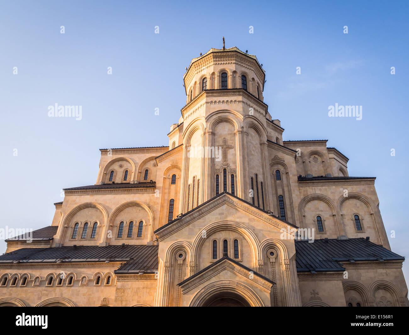 The Holy Trinity Cathedral (Sameba) in Tbilisi, Georgia. Stock Photo