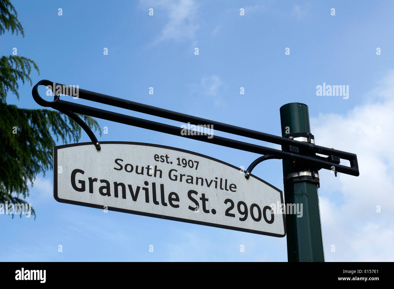 South Granville Street sign, Vancouver, BC, Canada - Stock Image