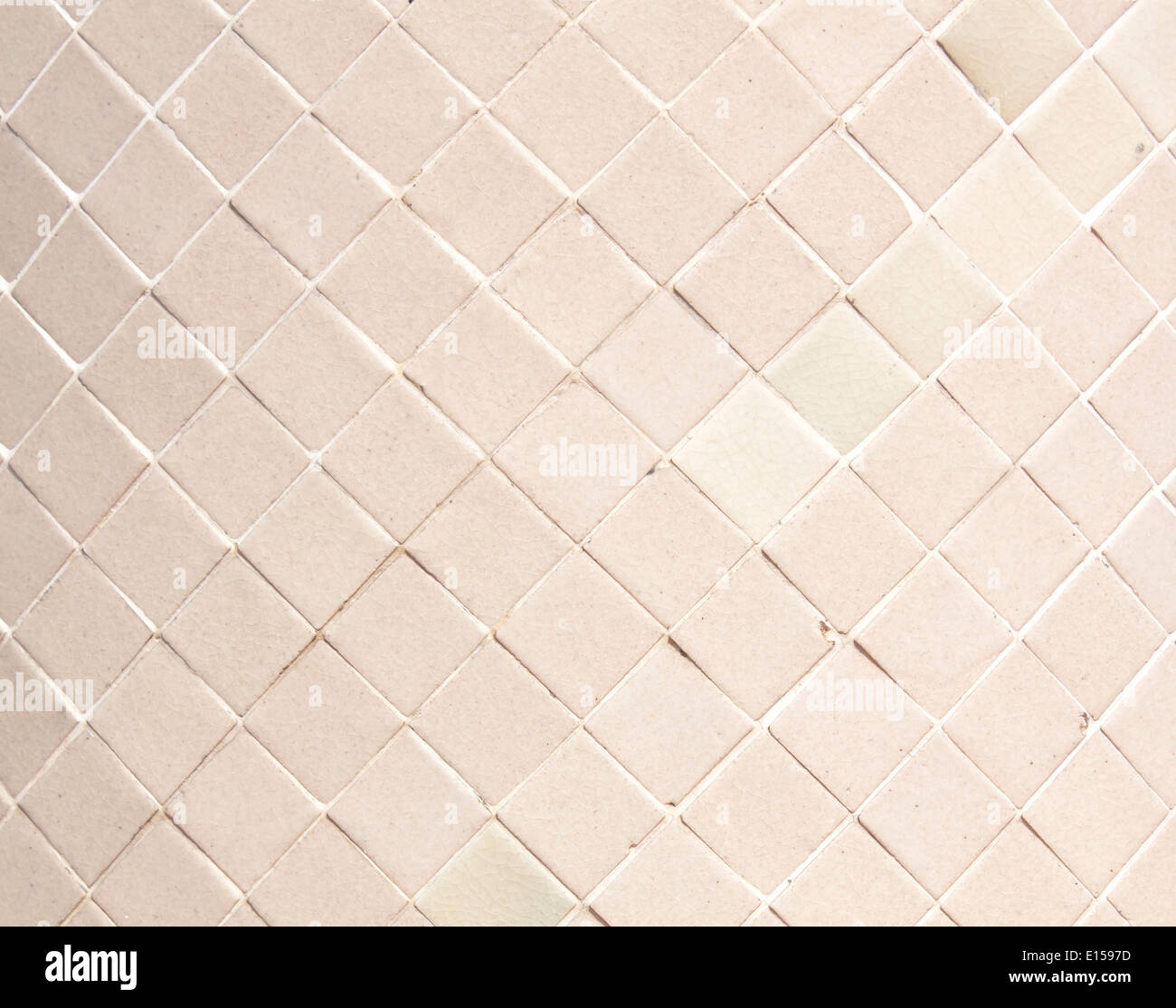 White backgrounds glass mosaic in the bathroom. - Stock Image
