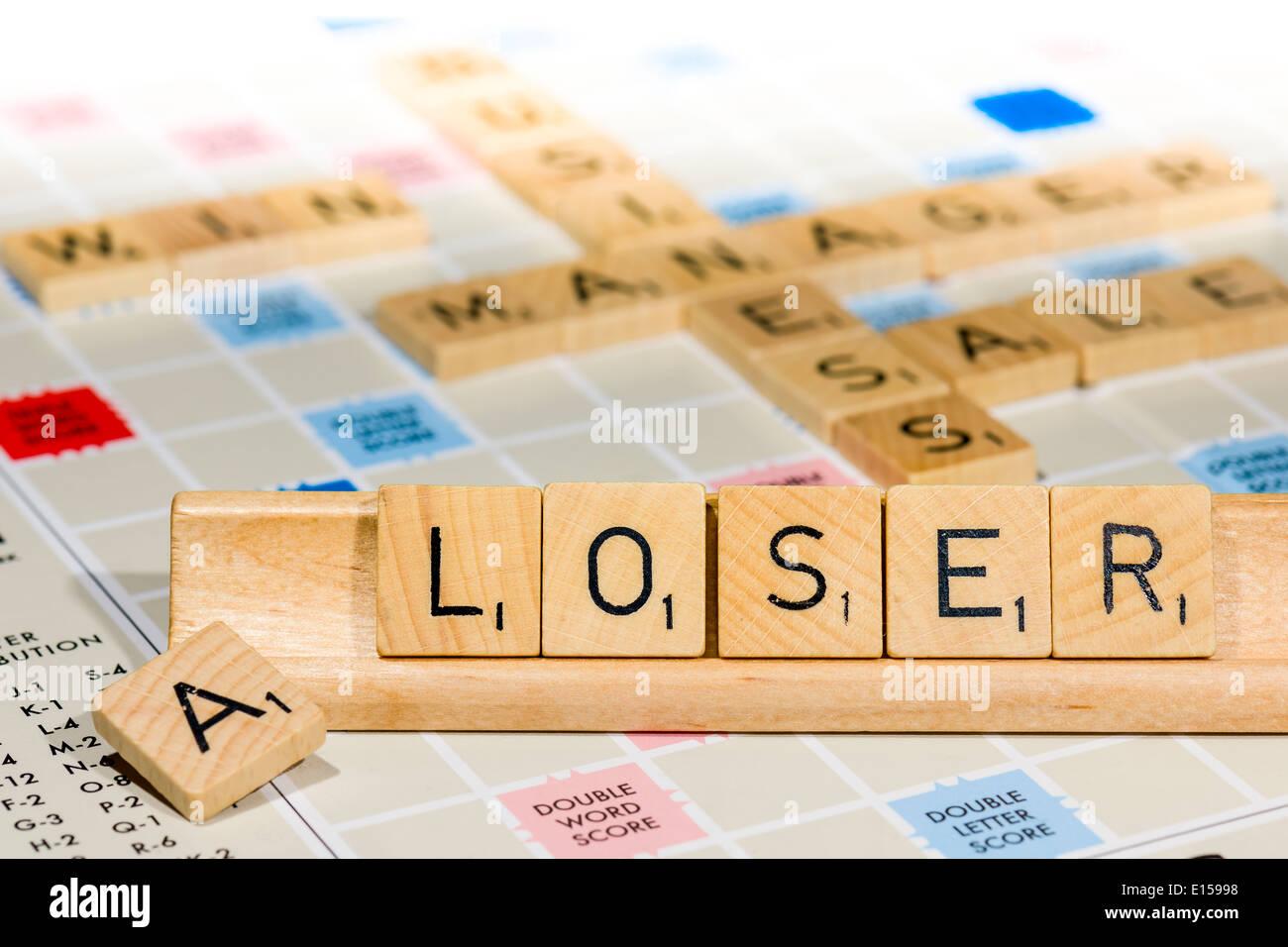 Scrabble - A Loser - Stock Image