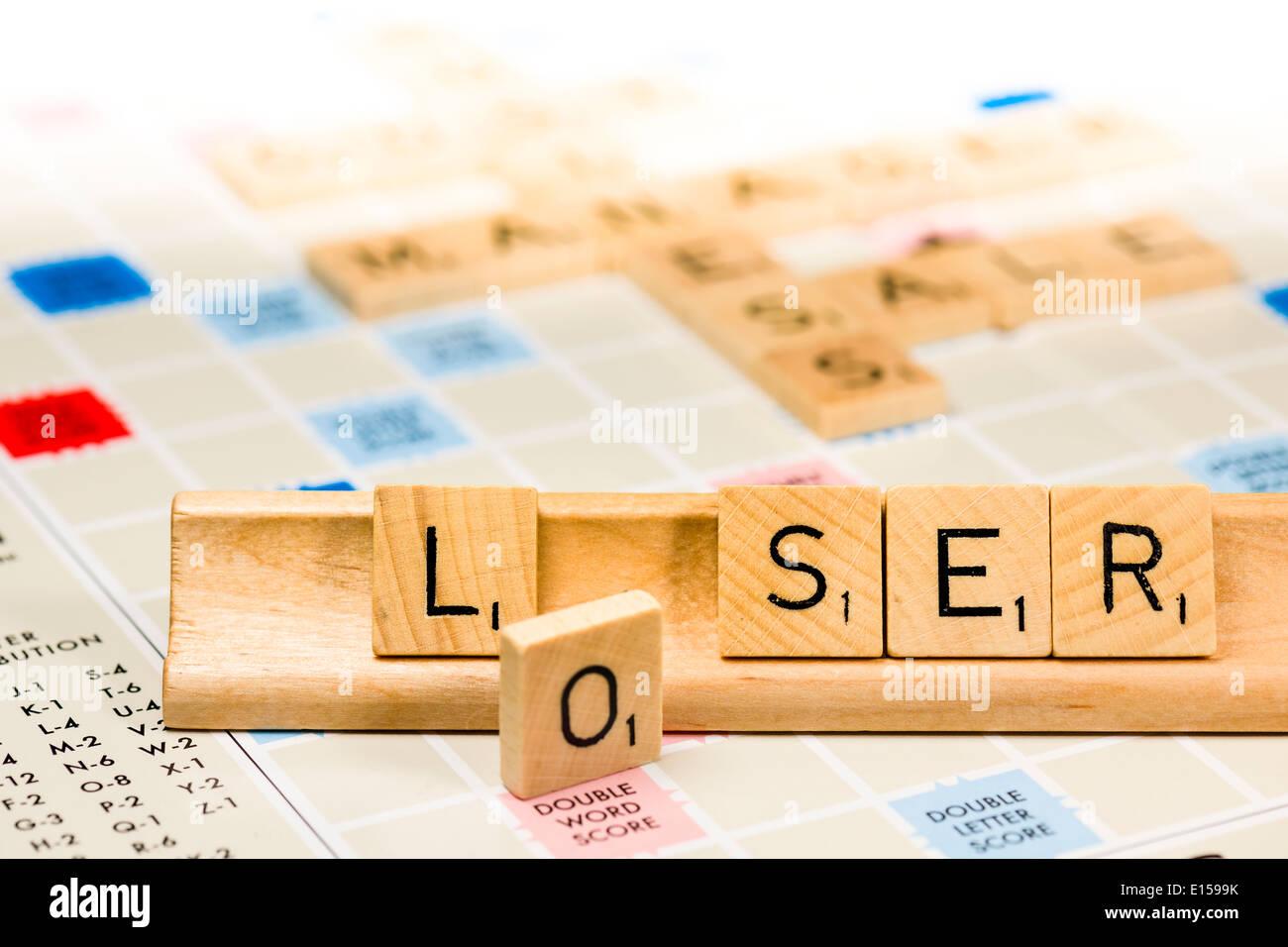 Scrabble - Loser - Stock Image