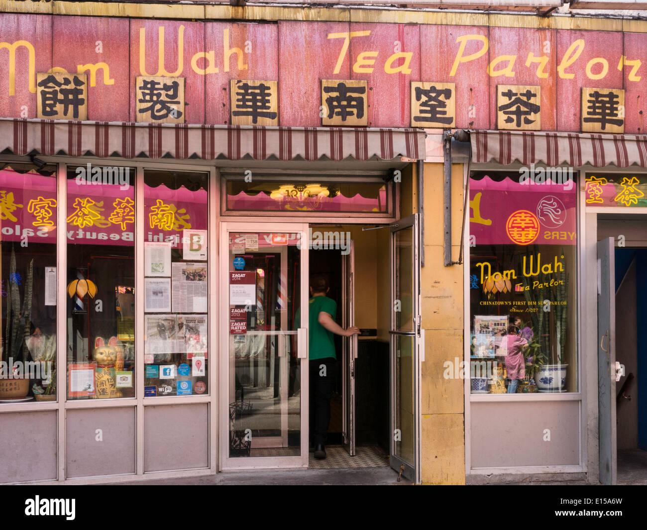 Nom Wah Tea And Dim Sum Parlor Restaurant Facade Chinatown