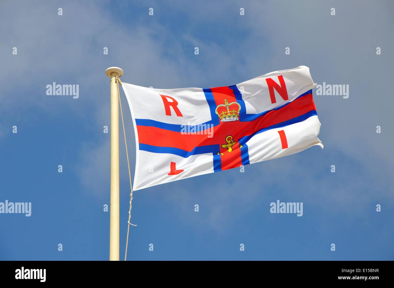Royal National Lifeboat Institute flag, England, UK Stock Photo
