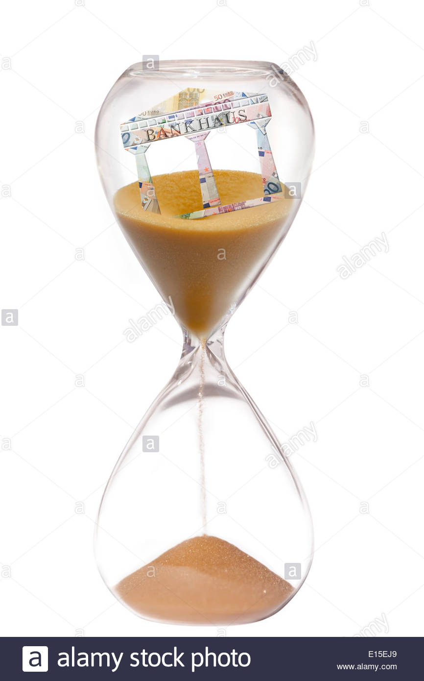 Bank failure, Question of time - Stock Image