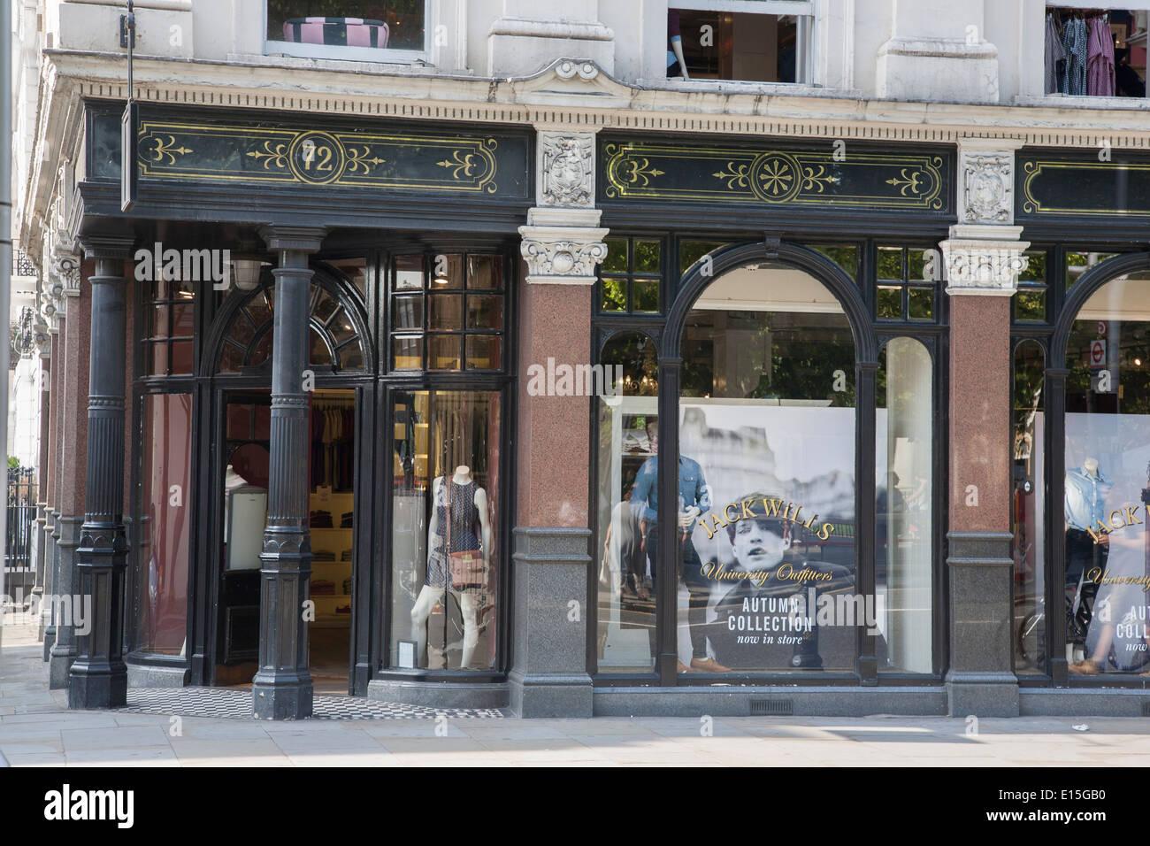 Jack Wills Shop; Kings Road; Chelsea; London; England; UK - Stock Image