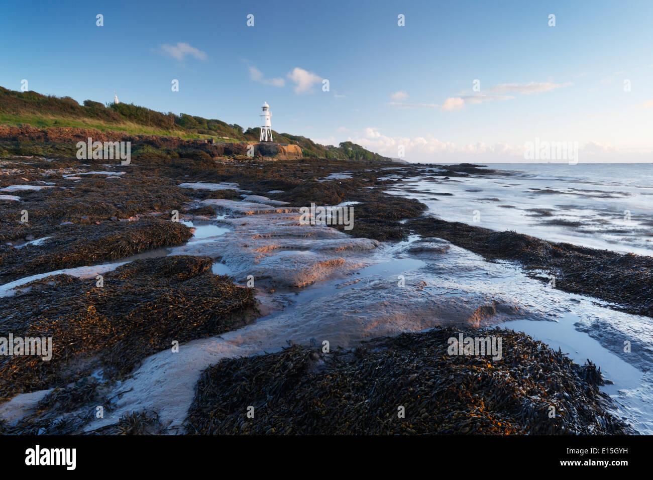 Black Nore Lighthouse. Portishead. North Somerset. England. UK. - Stock Image