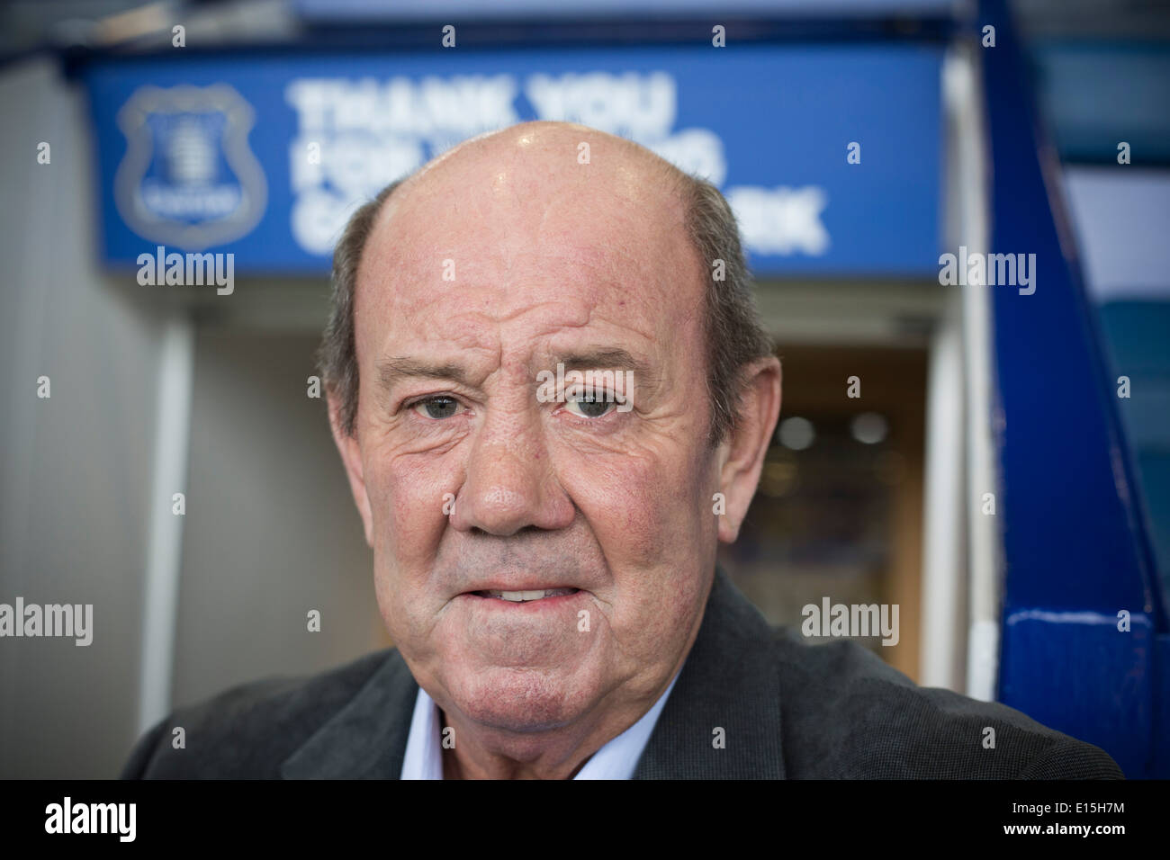 Former Everton FC player and manager Howard Kendall, pictured at the club's Goodison Park stadium in Liverpool. - Stock Image