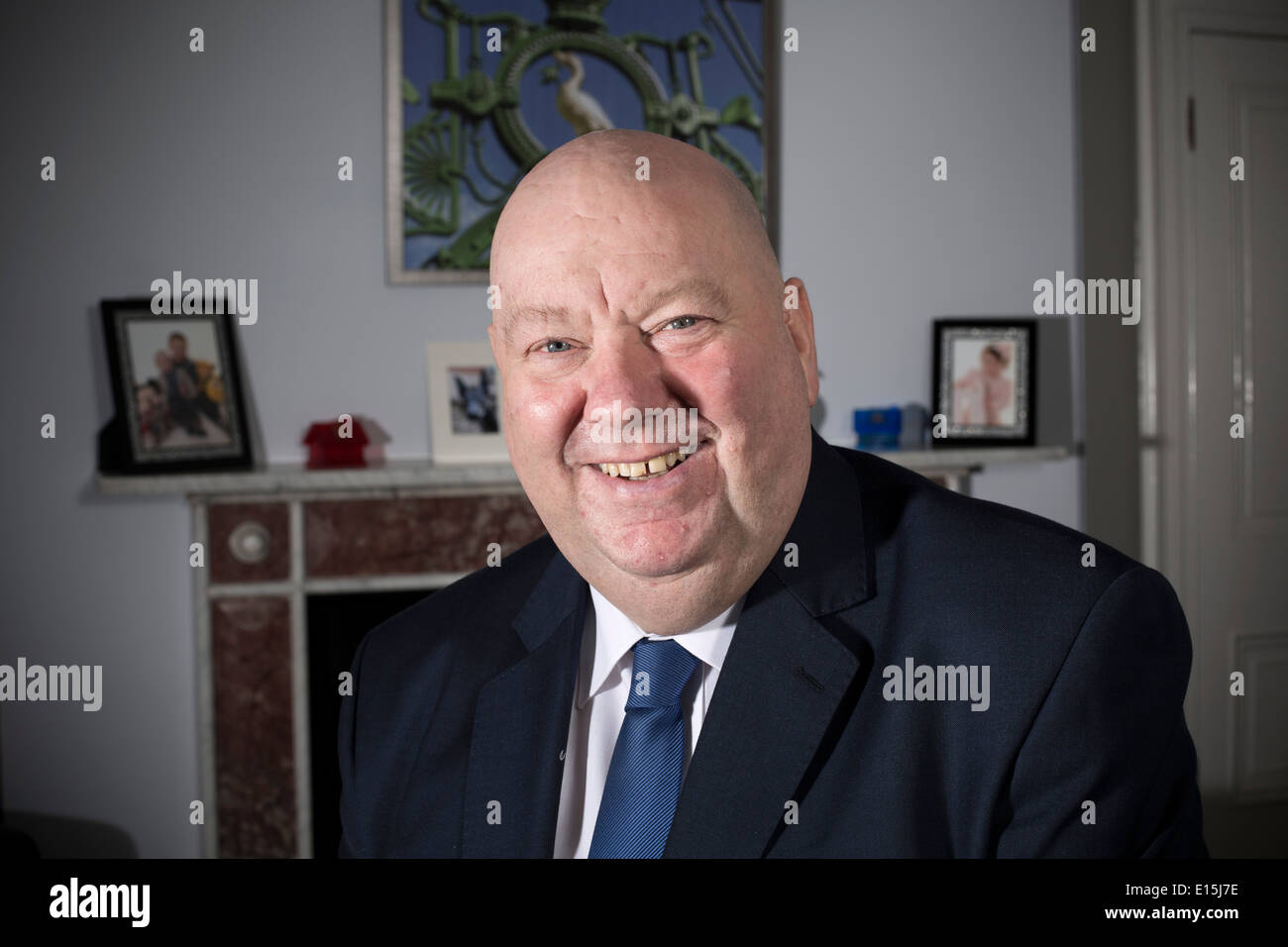 The Mayor of Liverpool, Joe Anderson, pictured in his office at the Municipal Buildings in the city. - Stock Image
