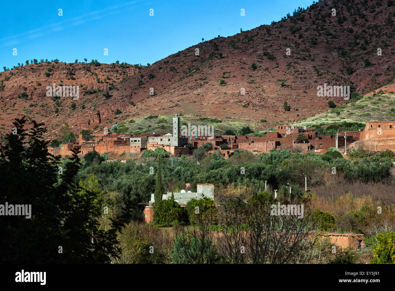 village in the hinterland of Morocco - Stock Image