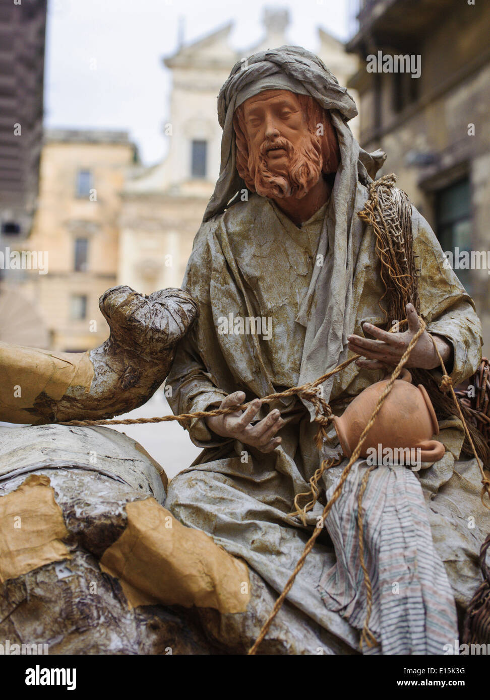 papier-mâché figures in Lecce Italy - Stock Image