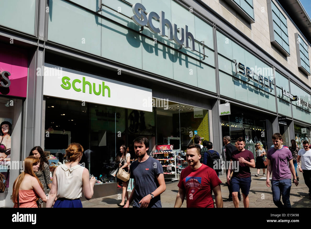Schuh store front in Manchester city centre UK - Stock Image
