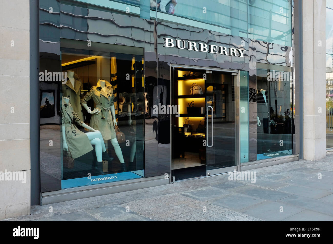 Burberry store front in Manchester city centre UK - Stock Image
