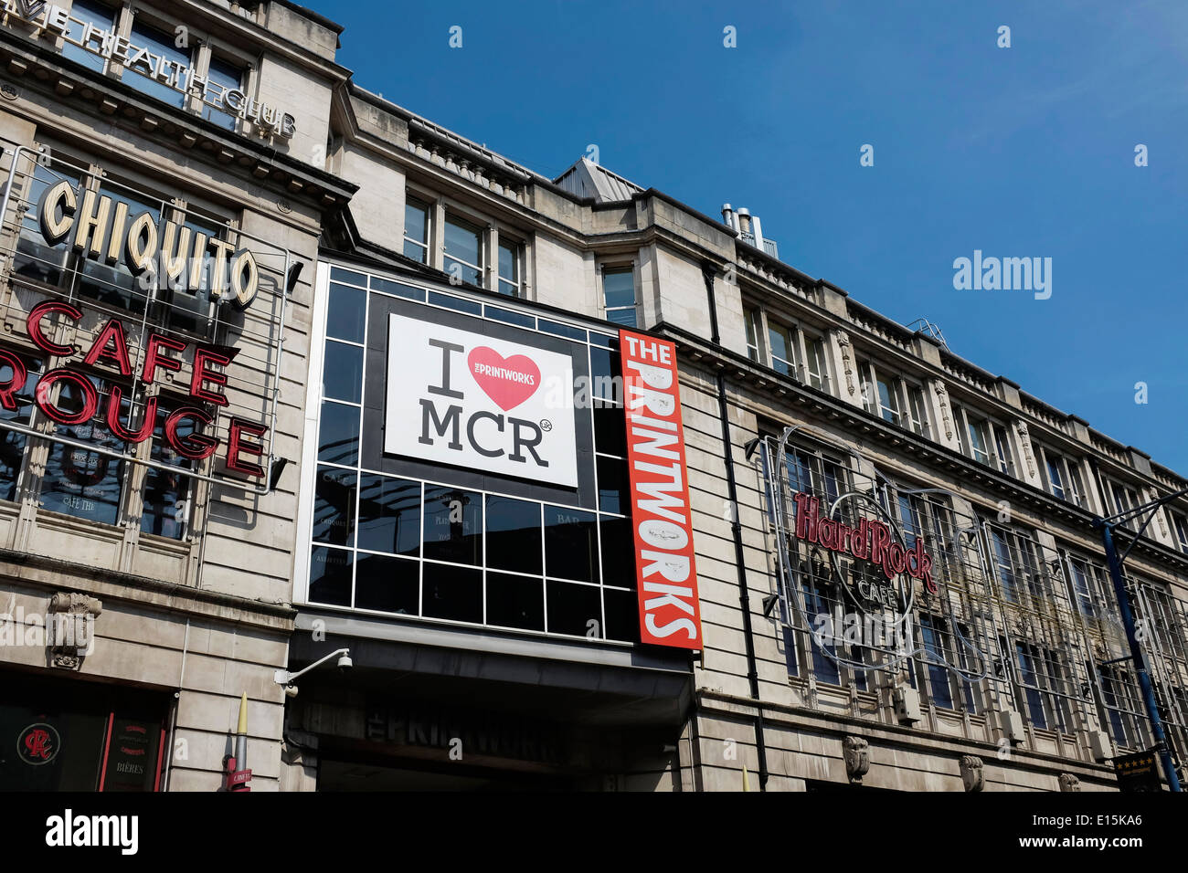 The Printworks building in Manchester city centre UK Stock Photo