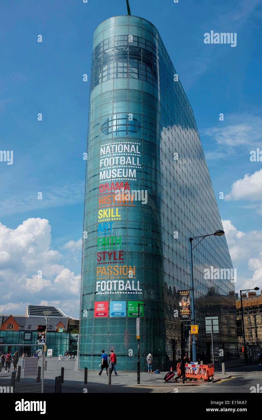 The National Football Museum in Manchester city centre UK - Stock Image
