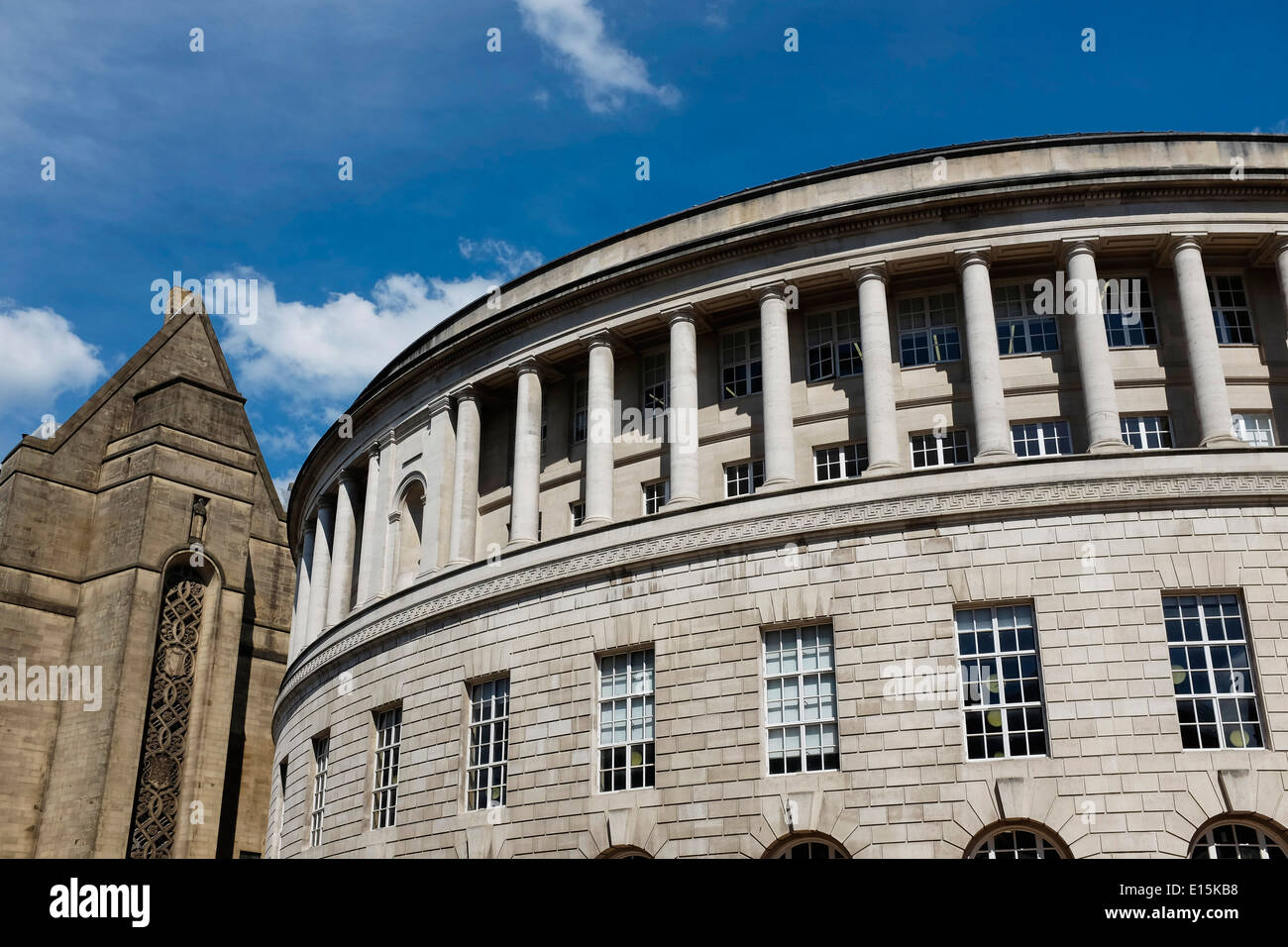 Detail of Manchester Central Library UK - Stock Image