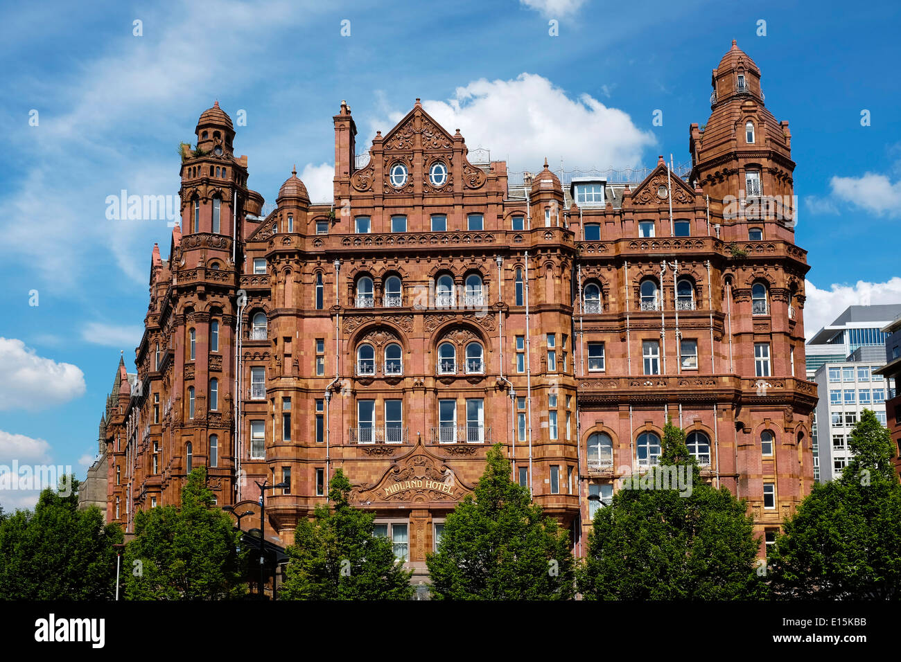The Midland Hotel in Manchester city centre UK - Stock Image