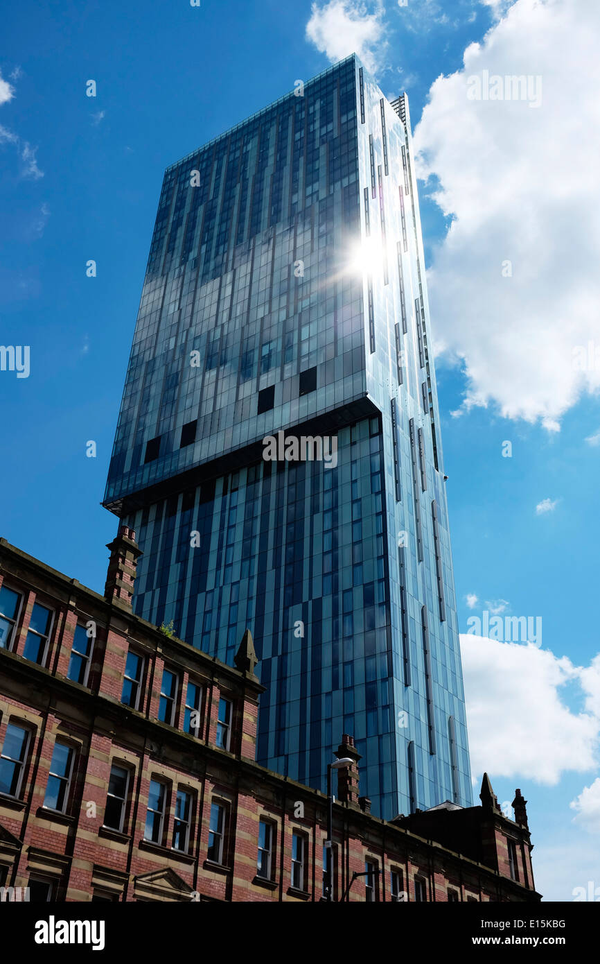 The Beetham Tower Hilton Hotel on Deansgate Manchester UK - Stock Image
