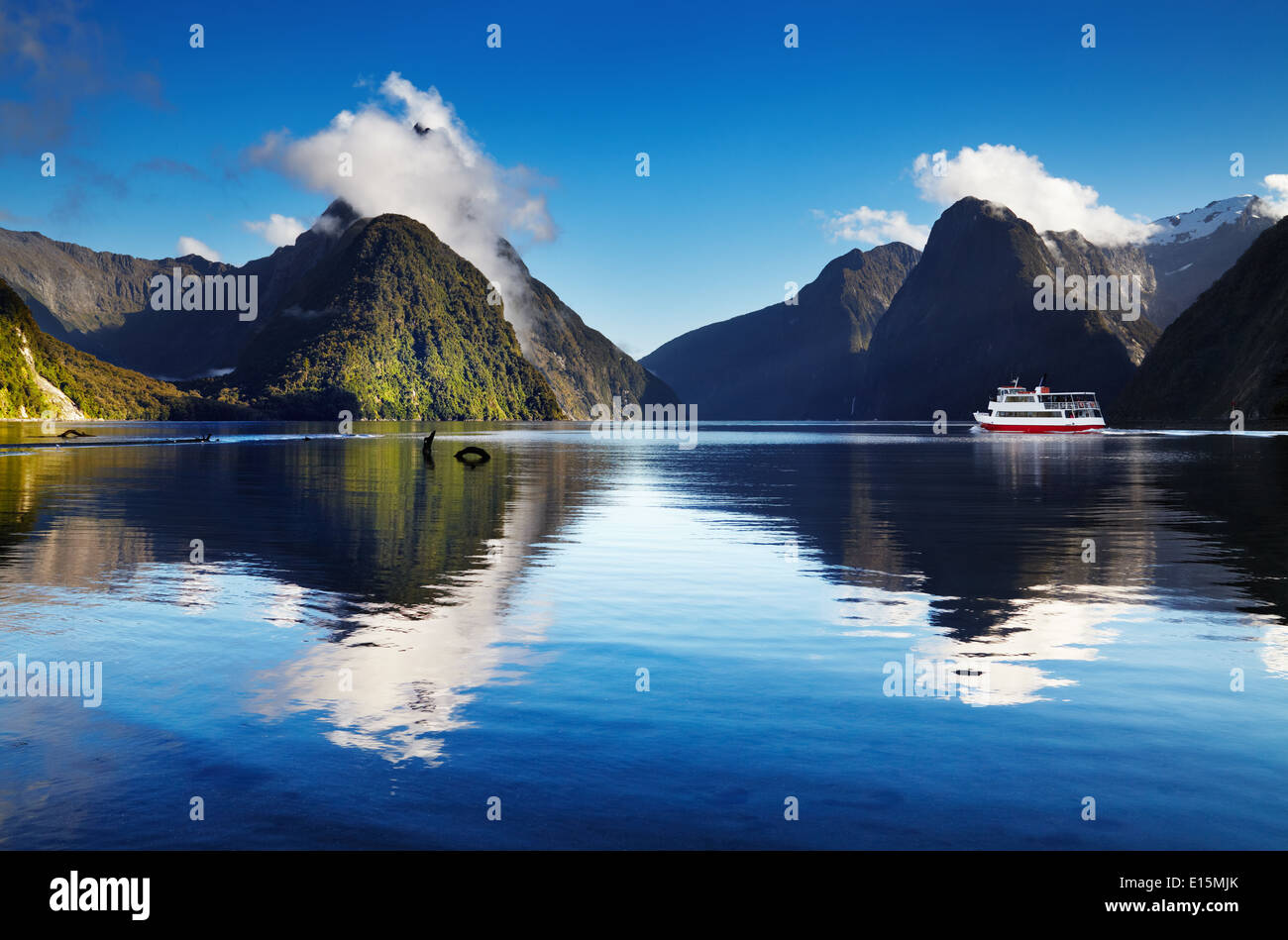 Milford Sound, South Island, New Zealand - Stock Image