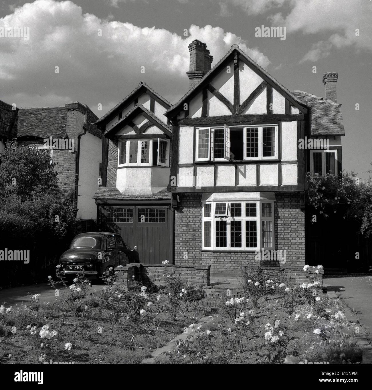 1950s. Historical picture of mock tudor English suburban ...  1950s Suburban Homes