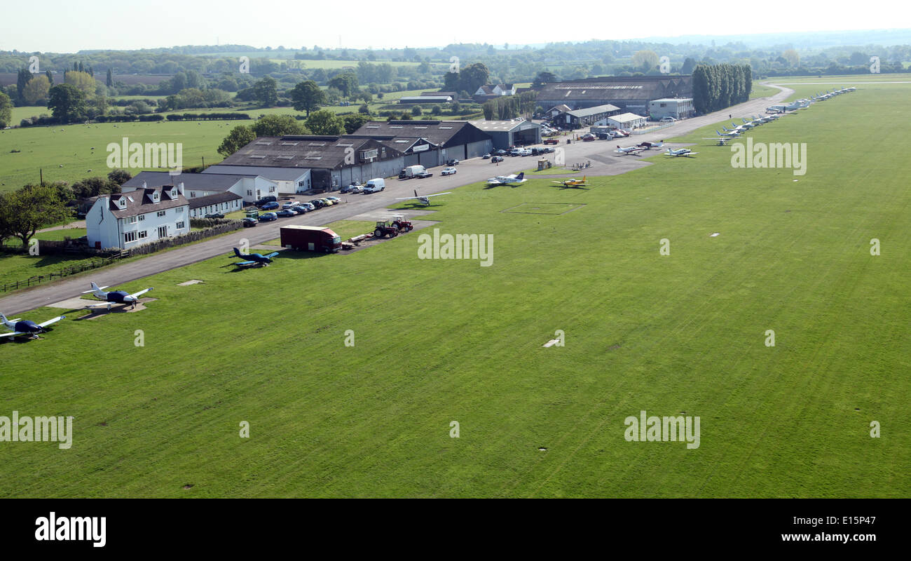 aerial view of Stapleford Airfield near Chigwell in Essex - Stock Image