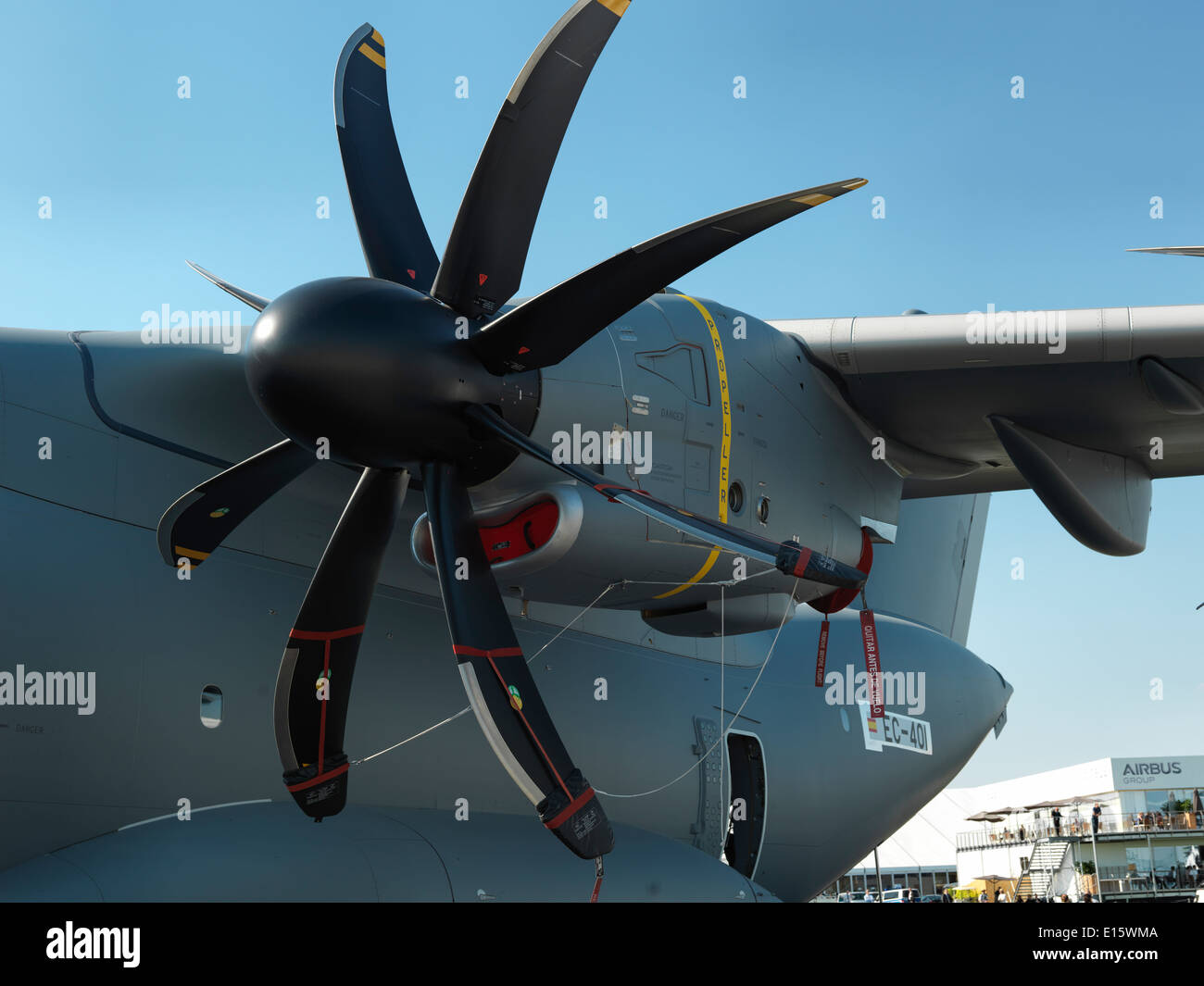 Airbus A400 turboprop engine. Digital mid format shot. - Stock Image