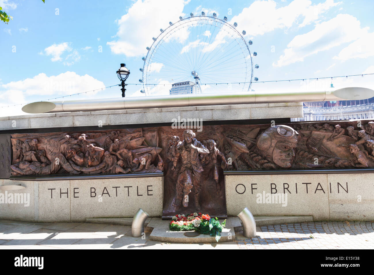 Memorial to the Battle of Britain on the Victoria Embankment London. - Stock Image