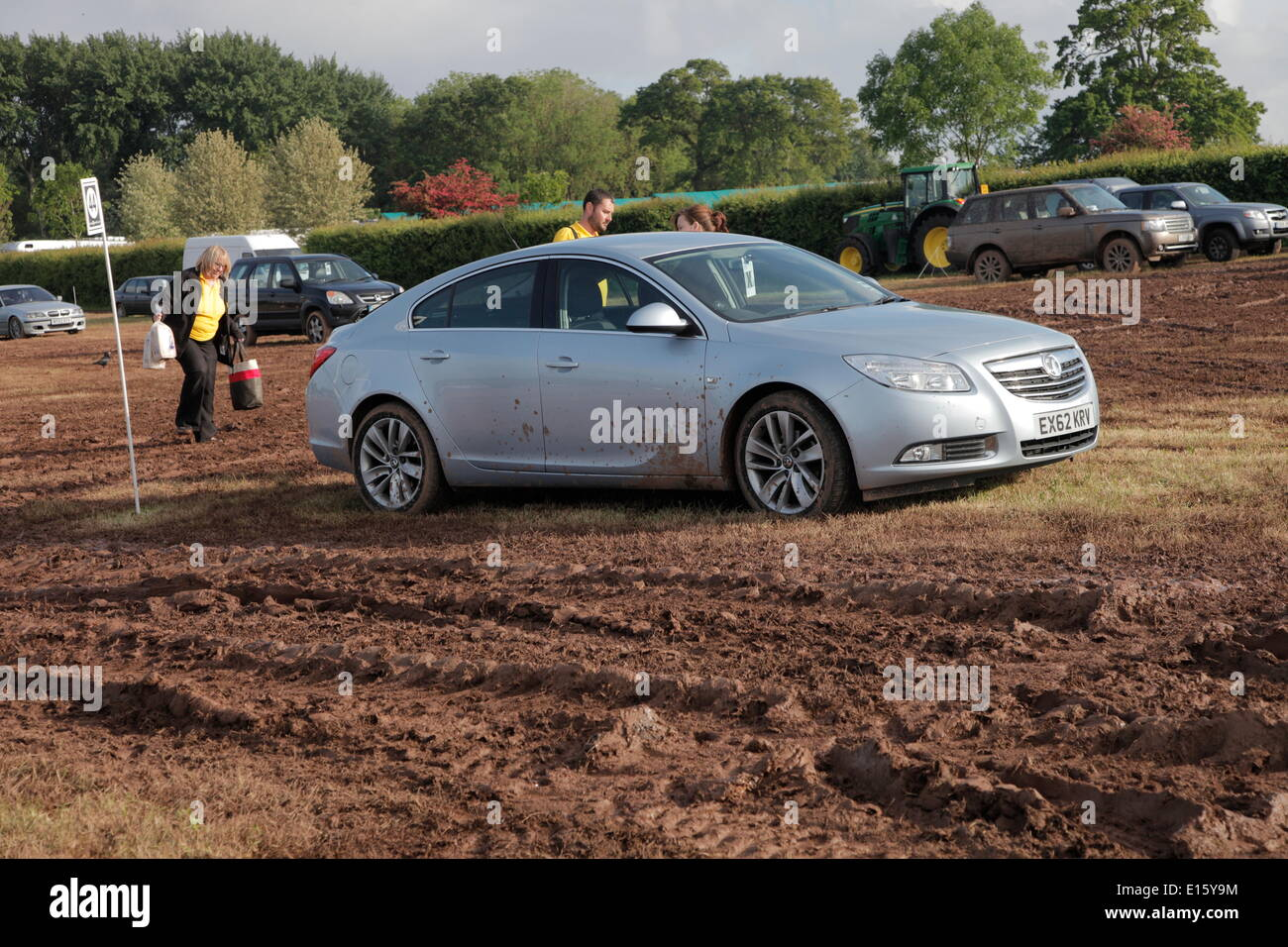 Exeter, Devon, UK. 23rd May, 2014. Devon County Show cancelled because of safety concerns due to heavy rain. The Stock Photo