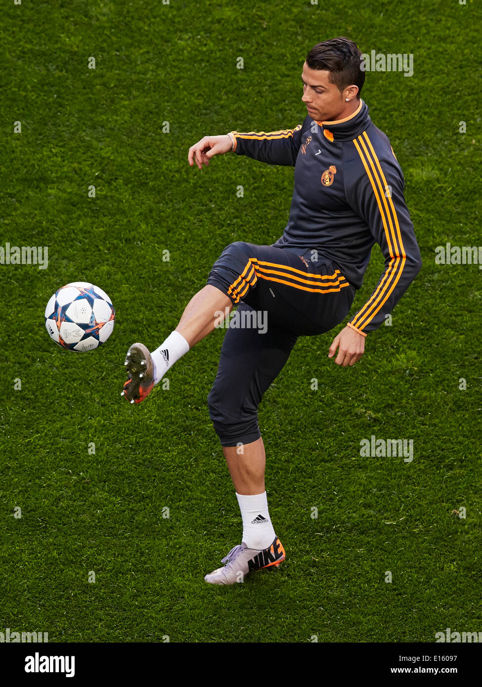 Lisbon Portugal Midfielder Cristiano Ronaldo Of Real Madrid In Action During