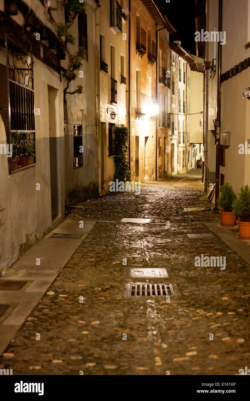 The town of Covarrubias, Burgos, Spain - Stock Image