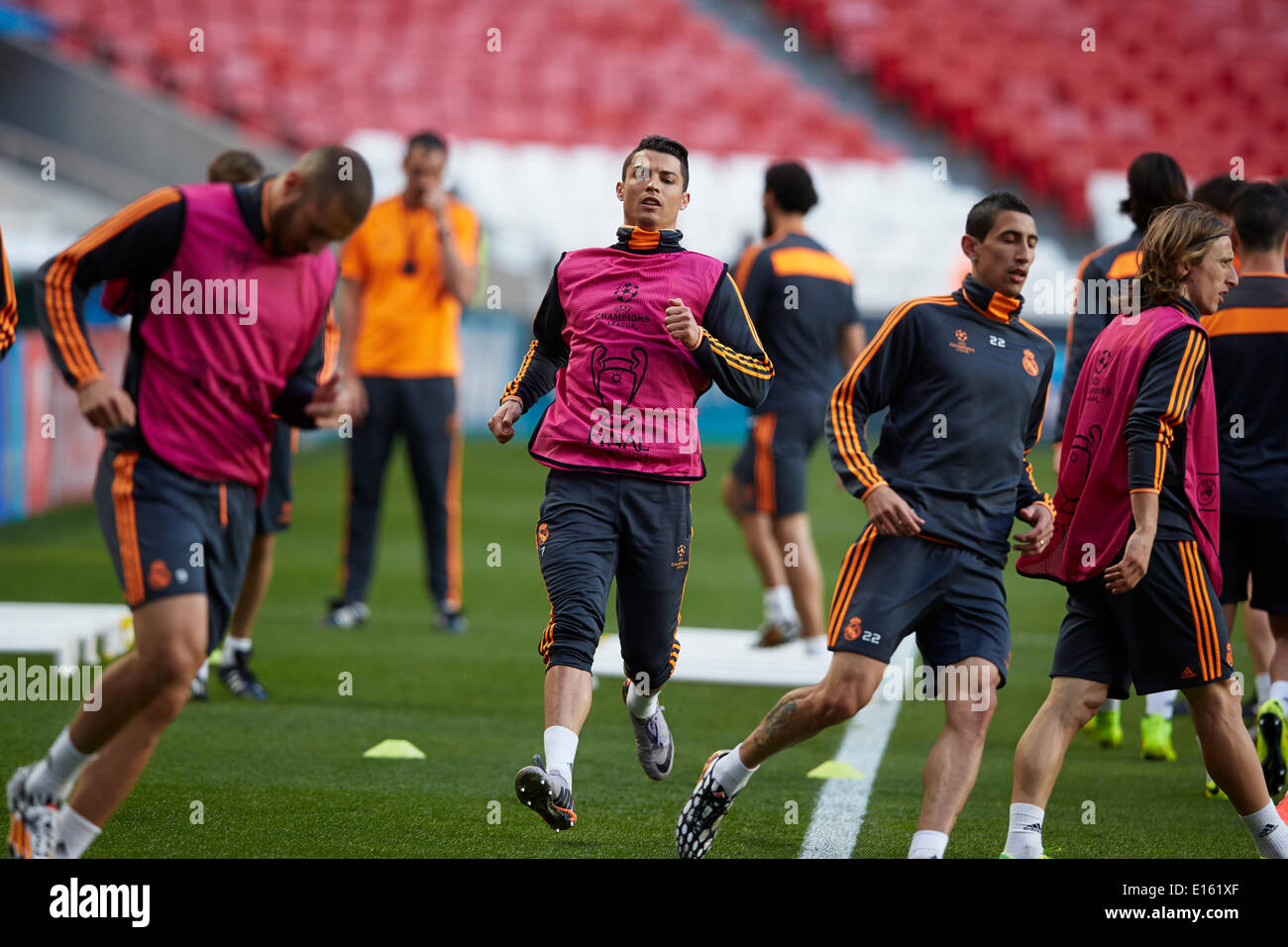 Midfielder Cristiano Ronaldo Of Real Madrid Sprints During
