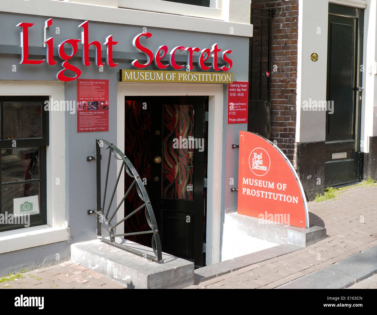 Museum of Prostitution Amsterdam Red Light District - Stock Image
