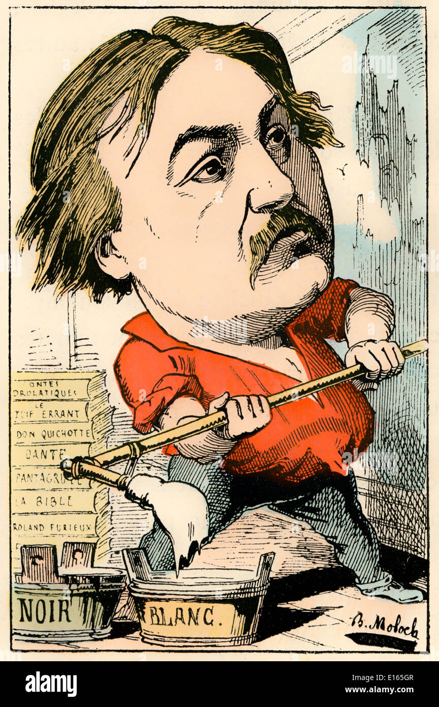 Paul Gustave Doré, 1832 - 1883, a French artist, printmaker, illustrator and sculptor, Political caricature, 1882, by Alphonse H - Stock Image