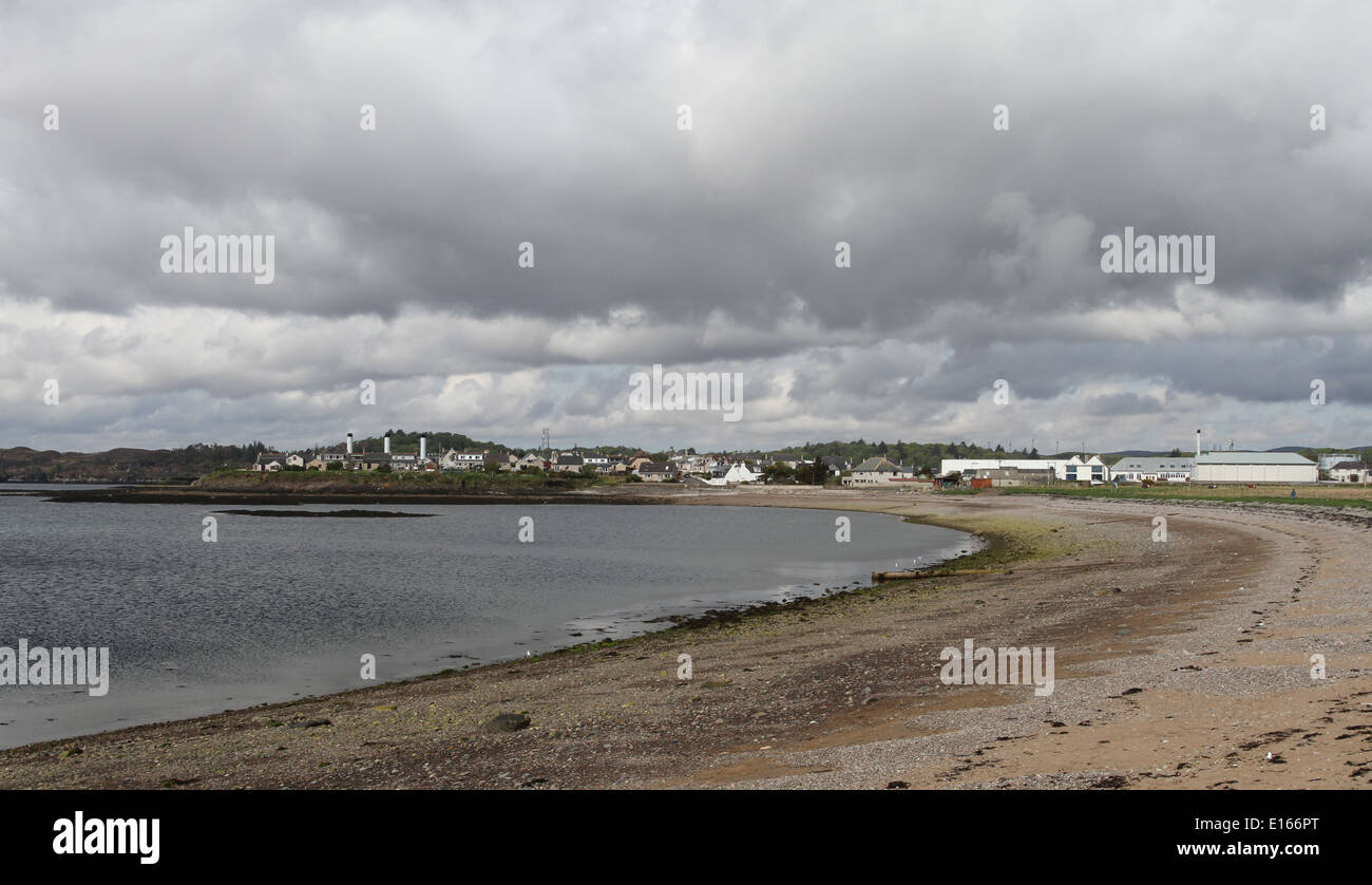 Beach Stornoway Isle of Lewis Scotland May 2014 - Stock Image